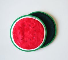 watermelon potholders  fruit summer kitchen by xxxRedStitcHxxx