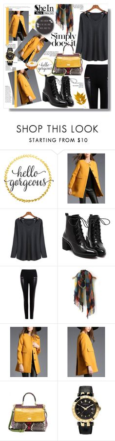 """Hijab"" by sans-moderation ❤ liked on Polyvore featuring moda, Dolce&Gabbana, GET LOST, Versace, Winter, hijab y shein"