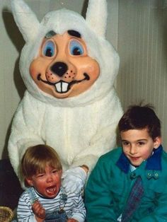 Scared of the Easter Bunny! #momhumor #Easter http://www.ivillage.com/kids-scared-easter-bunny/6-b-341224#