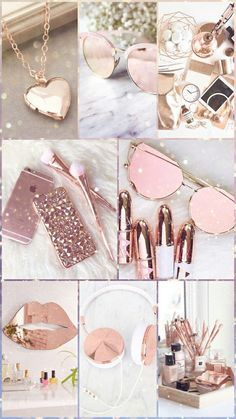 Rose Gold collage mood board inspiration photography
