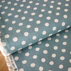 Sevenberry - Linen Mix Dot Canvas - Blue