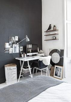Un piso 100% nórdico en Blanco y Negro