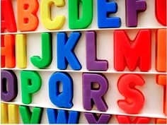 Fisher Price alphabet letter magnets - these are STILL all over my grandparents' fridge!