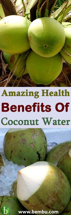 Have you tried coconut water yet? It's the liquid found within a coconut, and if you buy a high quality brand it will be largely untouched and in its natural form. Health Tips │ Health Ideas │Healthy Food │Health │Smoothie │Food │Desserts │Low Carb │Weigh