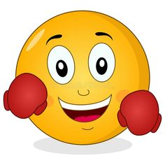 Illustration about A funny cartoon smiley emoticon character smiling and wearing boxing gloves, isolated on white background. Eps file available. Illustration of design, conceptual, ball - 50181921 Animated Emoticons, Funny Emoticons, Smiley Emoticon, Naughty Emoji, Laughing Emoji, Emoji Images, Animated Love Images, Emoji Wallpaper, Betty Boop