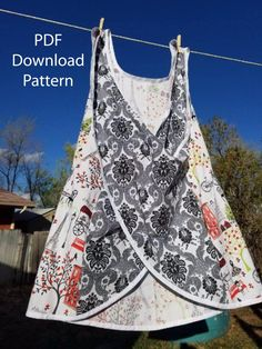 Plus Size Cross back Apron Pattern – Van Zandt StudiosOutstanding 10 sewing tutorials projects are offered on our internet site. Take a look and you wont be sorry you did. I don't know about you, but I love sewing for Easter. Easy Sewing Projects, Sewing Projects For Beginners, Sewing Hacks, Sewing Tutorials, Sewing Tips, Apron Pattern Free, Sewing Patterns Free, Free Sewing, Apron Patterns