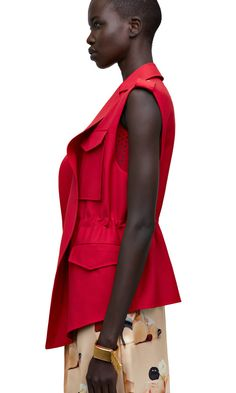 Revel sleeveless military inspired jacket  AcneStudios  SS15 1ad47db9b72