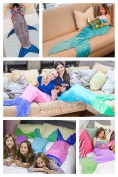 Blankie Tails Mermaid Tail Blankets & Shark Blankets are for children of ALL ages- perfect for cozy fun at home or on-the-go!