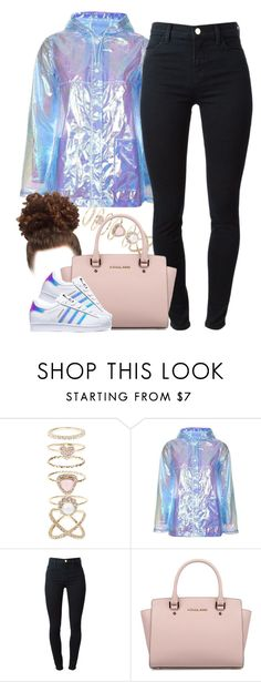 """Untitled #920"" by cjasmyne ❤ liked on Polyvore featuring Accessorize, Topshop, J Brand, Michael Kors and adidas"
