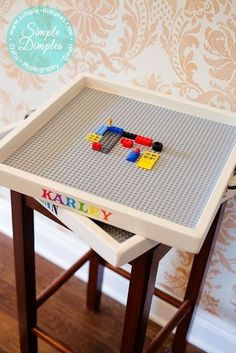 Keep Legos where they belong instead of underfoot! Simple DIY personalized trays for projects & creations.
