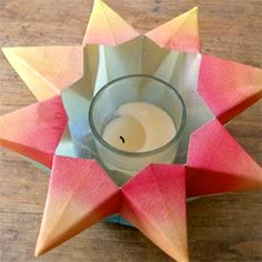 Folded Paper Star Lanterns and More Paper Ornaments Diy Paper, Paper Crafts, Diy Crafts, Creative Crafts, Paper Art, Christmas Paper, Christmas Crafts, Christmas Stars, Christmas Tables