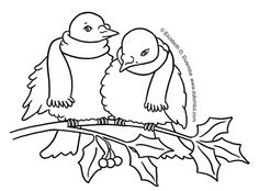 dulemba: Coloring Page Tuesday - Winter Doves