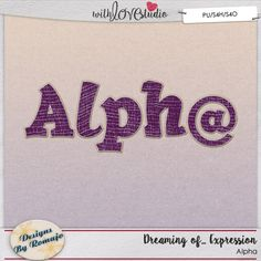 Dreaming of... Expression digital scrapbooking alpha from Designs By Romajo. This pack coordinates with the May 2016 Lovely Colors at With love Studio. You can mix and match this with all the other Lovely Color Packs to create gorgeous digital and hybrid scrapbooking layouts.