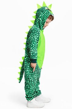 Fancy dress costume with a zip down the front, hood with appliqués and ribbing at the cuffs and hems. Fancy Dress Costumes Kids, Fancy Dress For Kids, Costume Dress, Dragon Kid, Green Dragon, Dragon Costume, Harem Pants, Xmas Ideas, Choir