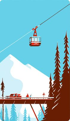 Illustrations by Tom Haugomat Inspiration Grid Design Inspiration Art And Illustration, Illustration Landscape, Mountain Illustration, Graphic Design Illustration, Animal Illustrations, Christmas Illustration Design, Design Illustrations, Illustrations Posters, Posca Art