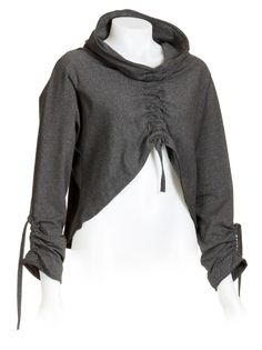 Drawstring vest -- I could see taking a sweatshirt and making this. It'd be pretty easy, I think.