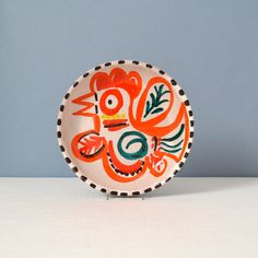 Mid Century Modern Giovanni Desimone Hand Painted Bowl