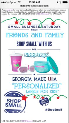 30% savings #shopsmall more here  http://magento.kiddotags.com/monthlynewsletter/index.html