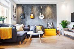 apartamento-com-instrumentos-musicais-na-parede