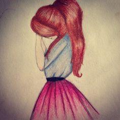 Draw girl pretty