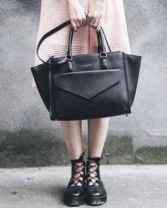 342c11b21c What a great romantic punk style by Cannibale Core with our black handbag  Adèle… Lancaster