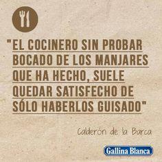 Frases célebres de cocina - Gallina Blanca