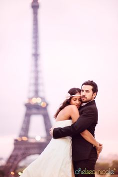 PARIS, FRANCE – Newlyweds in the city of love #wedding