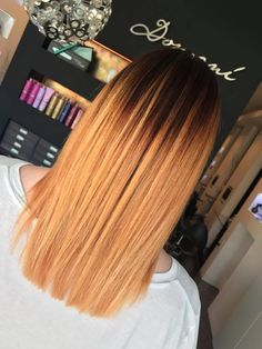 Balayage. straight hair . short hair . Julia . Domani art of Hair . Olaplex . Highlights . Copper . kupfer