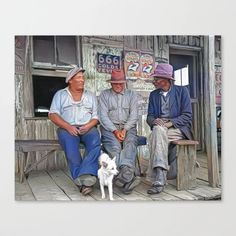 Porch Conversation, Jeanerette, Louisiana 1938 Canvas Print Colorized History, Meet The Artist, Louisiana, Conversation, Porch, Canvas Prints, Cold, Artwork, Balcony