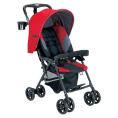I'm learning all about Cosmo Stroller - Red by Combi at @Influenster!