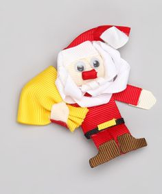 Take a look at this Santa with Toy Bag Clip by Bubbly Bows on #zulily today!