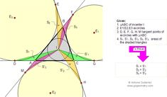 Geometry Problem Problem 113 Triangle area, incircle, excircle, inradius, exradius, Tangency Points. High School, College, Teaching, Math Education.