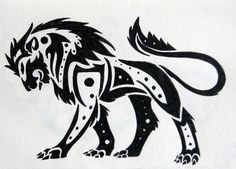 lion in circle tribal - Sök på Google