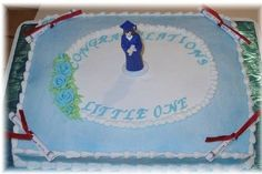 Simple graduation sheet cake idea
