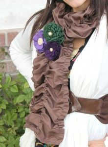 Ruffly Scarf Tutorial..love the scarf...not the colors of the flowers