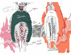Use These Tips To Assure A Great Experience Fashion Portfolio Layout, Fashion Design Sketchbook, Fashion Illustration Sketches, Fashion Design Drawings, Fashion Sketches, Portfolio Design, Portfolio Ideas, Medical Illustration, Illustrations