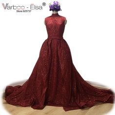VARBOO_ELSA Burgundy Sequined Evening Dress Shiny Prom Dress Long Train Sleeveless Party Dresses Mother And Daughter Gowns 2017. Yesterday's price: US $280.00 (228.59 EUR). Today's price: US $212.80 (174.30 EUR). Discount: 24%.