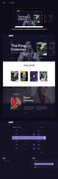 Section of Jazz for NVO.fr on Behance