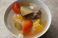食譜 青紅蘿蔔豬骨湯 Green Radish and Carrot Pork Bones Soup Recipe