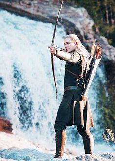 Legolas in Desolation...they really strayed from the book by even making him a somewhat major character. Not gonna complain though.