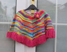 Crochet poncho rainbow poncho handmade girls wear by kristupiuxs, Baby Knitting Patterns, Crochet Baby Clothes, Moda Emo, Girls Wear, Crochet Projects, Knit Crochet, Sweaters, How To Wear, Man Fashion