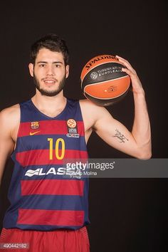 Alex Abrines, #10 of FC Barcelona Lassa poses during the 2015/2016 Turkish Airlines Euroleague Basketball Media Day at Palau Blaugrana on September 28, 2015 in Barcelona, Spain.