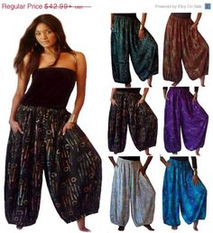 Save 15% off SALE B292 Wide Leg Pants by LotusTradersClothing