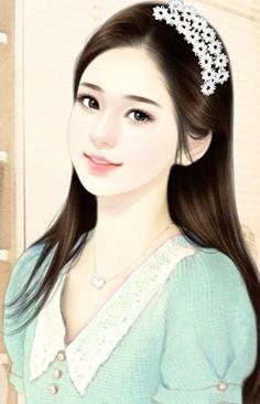 chinese girl y Beauty Art, Girls Cartoon Art, Girly Pictures, Korean Art, Female Art, Art Girl, Art Of Beauty, Chinese Art, Digital Art Girl