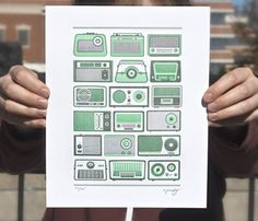 Mint radios - love the color