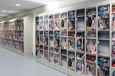'what's in your locker?' by lab3, Netherlands. the exteriors of the school's lockers were covered in seven different prints exhibiting what students might have stashed within their storage space