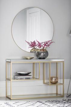 Pippard Console Table By Hudson Living - All About Decoration Console Table Living Room, Living Room Decor, Console Table Decor, White Console Table, Console Styling, Living Rooms, Glass Table, Home Furnishings, Home Furniture
