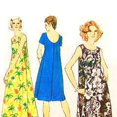 Vintage 70s Muu Muu Dress Pattern Uncut by RebeccasVintageSalon, $10.99