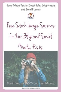 Free stock image sources for your blog or social media posts. Don't get your images from just anywhere on the internet you could end up in some serious hot water.  These are just some of the great sources on the internet where you can get images to use on your graphics for social media and your blog.