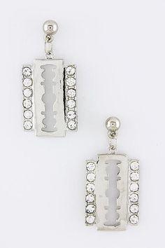 {Crystal Plate Trendy Earrings}